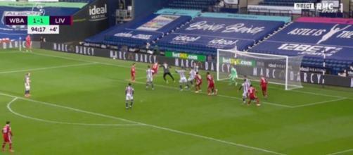 Alisson, le gardien de Liverpool offre la victoire aux siens (Source : vidéo RMC Sport - capture)