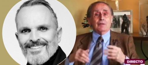 Jaime Peñafiel ataca directamente a Miguel Bosé por ser un negacionista - Instagram (@miguelbose) Twitter (@telemadrid)