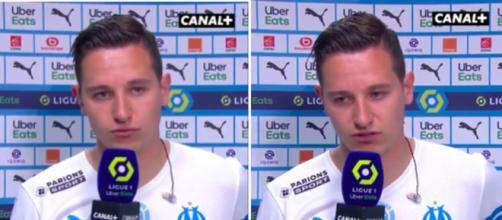 Les adieux émouvants de Florian Thauvin aux fans de l'OM - Photo captures d'écran vidéo Canal+