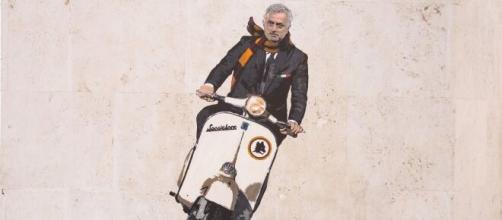 Mourinho è già sui murales a Roma.