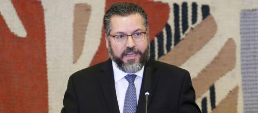 Ernesto Araújo presta depoimento à CPI da Covid (Agência Brasil)