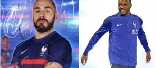 Retour de Benzema en EDF - crédit : capture d'écran TF1 et Instagram Mandanda