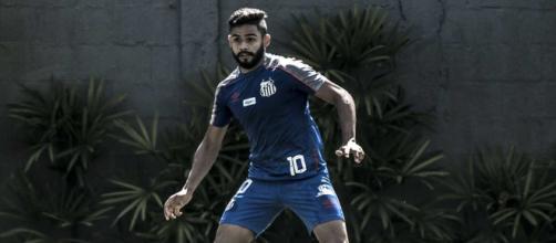 Inter cogita investida em Felipe Jonatan, lateral-esquerdo do Santos (Divulgação/Santos)