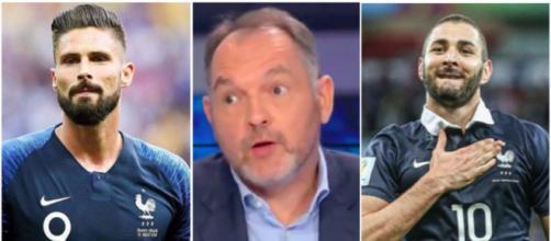 Le conflit entre Giroud et Benzema réglé ? Les confidences de Stéphane Guy. Photo captures d'écran instagram des joueurs et vidéo RMC