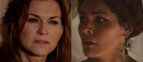 Sara e Agar em 'Gênesis' (Reprodução/Record TV)
