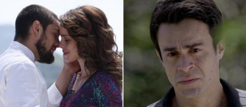 Vicente e Cristina serão flagrados por Fernando em 'Império' (Fotomontagem/Reprodução/Rede Globo)