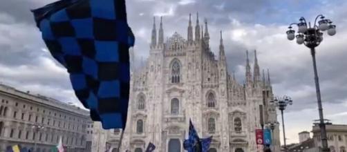 La ville de Milan aux couleurs de l'Inter, des milliers de supporters fêtent le titre (Source : Inter Milan Twitter officiel - capture)