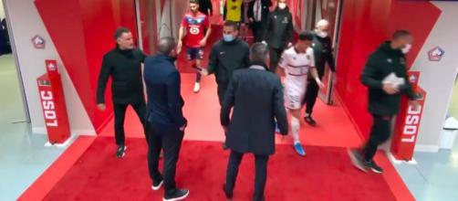 Les dirigeants lillois ont mis la pression sur l'arbitre de la rencontre - Photo capture d'écran vidéo Canal +