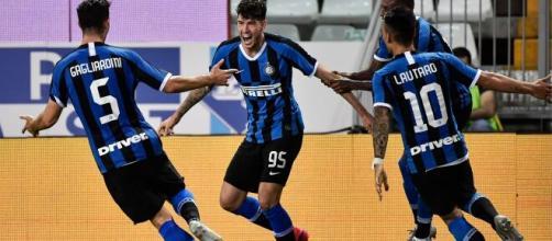 L'Inter festeggia la vittoria dello scudetto
