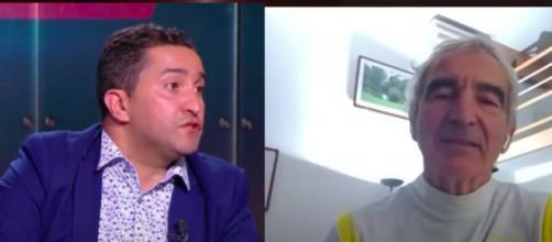 Nabil Djellit vole au secours de Raymond Domenech - Photo captures d'écran vidéos YouTube