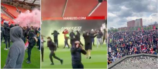 Le chaos dans le stade 'Old Trafford' - Photo captures d'écran vidéo Twitter