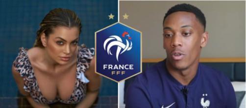 Anthony Martial ne sera pas présent lors de l'Euro 2020. - montage Instagram et logo FFF wikipédia