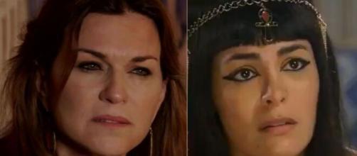 Sara e Agar em 'Gênesis'. (Reprodução/RecordTV)