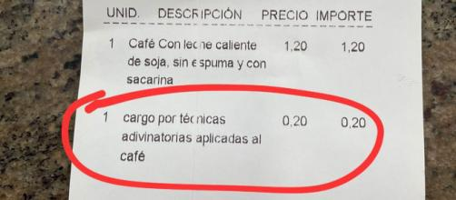 Un bar de Logroño vuelve a hacerse viral por las facturas que emite a sus clientes. (@pizarrines)