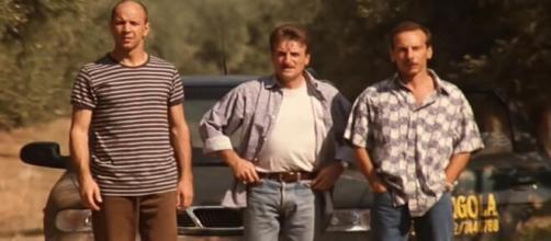 Aldo, Giovanni e Giacomo in una scena del film.