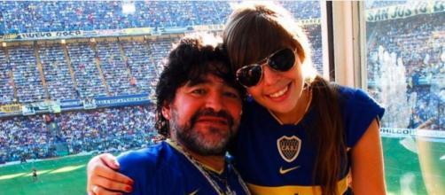 El astro argentino Diego Maradona en una foto con su hija Dalma. (Instagram, @dalmamaradona)