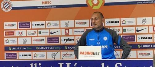 L'entraineur de Montpellier, Michel Der Zakarian quittera Montpellier en fin de saison. (Source : Julien Castanheira @JulienCst, MHSC )