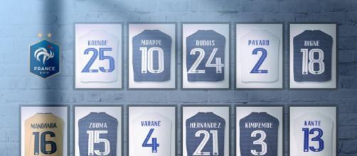 Le site officiel de l'Équipe de France a dévoilé les numéros des joueurs pour l'Euro (Source : FFF et site officiel de l'Equipe de France)