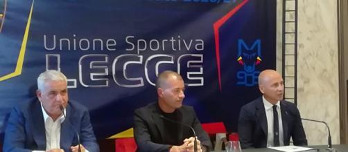 Lecce, Sticchi Damiani con Corvino e Corini.