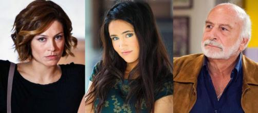 Un posto al sole, Arianna Landi (Samanta Piccinetti), Viola Bruni (Ilenia Lazzarin) e Otello Testa (Lucio Allocca).
