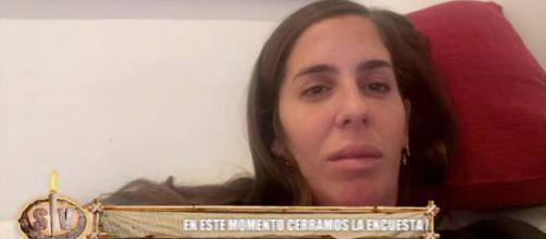 Anabel Pantoja pillada infraganti medio dormida por Jorge Javier Vázquez - (Telecinco)