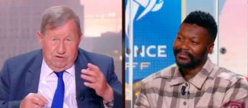 Djibril Cissé fond en larmes après les déclarations de Guy Roux - Photo capture d'écran vidéo Twitter