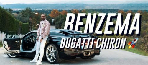 Karim Benzema qui pose devant sa dernière Bugatti Chiron - Source : Capture d'écran Vimeo