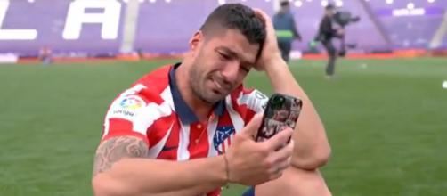 Luis Suarez craque après l'obtention du titre (Source : La Liga Santander)