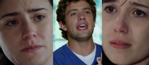 Ana, Rodrigo e Manu em 'A Vida da Gente'. (Fotomontagem)