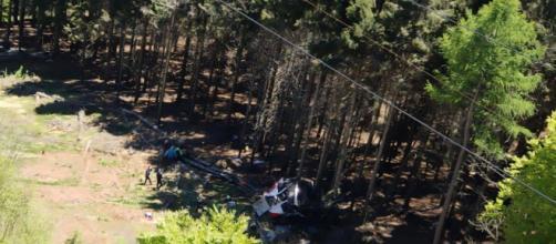 El accidente ocurrió en la parte más alta del recorrido (@emergenzavvf)