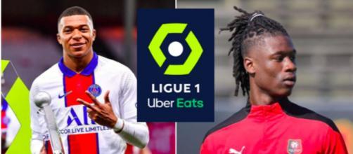 Ces joueurs qui pourraient quitter la Ligue 1 - Photo captures d'écran instagram Mbappé et Camavinga. Logo Ligue 1 wikipedia