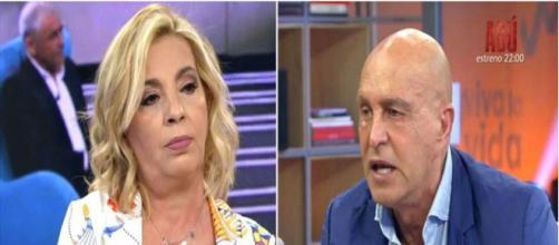 Kiko Matamoros responde y deja sin habla a Carmen Borrego por las palabras de su madre (Plató / Mediaset España)