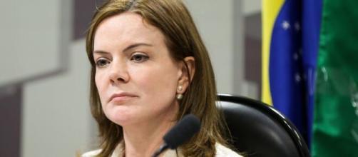 Presidente do PT, Gleisi Hoffmann é uma das vozes de destaque da oposição no Congresso (Marcelo Camargo/Agência Brasil)
