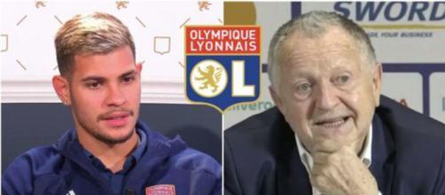 Jean-Michel Aulas et les joueurs lyonnais critiquent Rudi Garcia - Crédit vidéo youtube + logo OL Wikipédia
