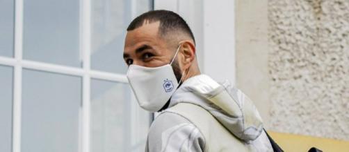 L'arrivée de Karim Benzema à Clairefontaine (Photo : Equipe de France de football)