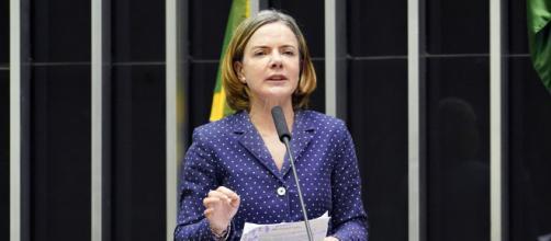 Presidente do PT não poupa críticas a Jair Bolsonaro (Pablo Valadares/Câmara dos Deputados)