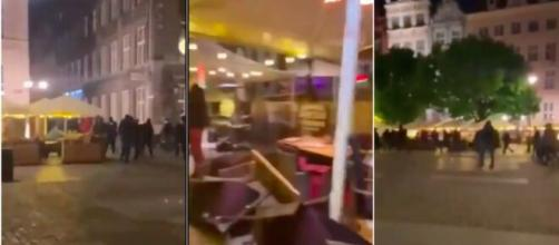 Une bagarre éclate en Pologne - Photo capture d'écran vidéo Twitter