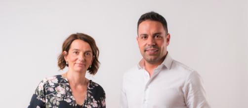Intervista alla consulente HR Chiara Bisconti. In foto con Felice Saladini, presidente di MeglioQuesto Spa.