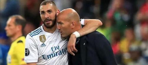 Karim Benzema et Zinedine Zidane ont tout gagné ensemble au Real Madrid. (Photo : Instagram Karim Benzema)