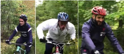 La France a débuté sa préparation pour l'Euro 2020 par une balade en vélo (crédit photo captures d'écran vidéo Youtube FFF TV)