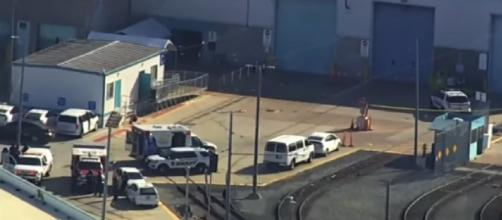 Gun violence at San Jose, CA rail yard (Image source: News 19 WLTX/YouTube)