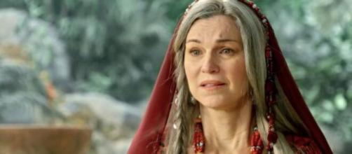 Sara terá seu filho e expulsará Ismael em 'Gênesis' (Reprodução/Record TV)