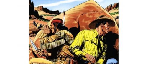 Tex e Jack Tigre em uma das aventuras presentes nos HQs (Reprodução)