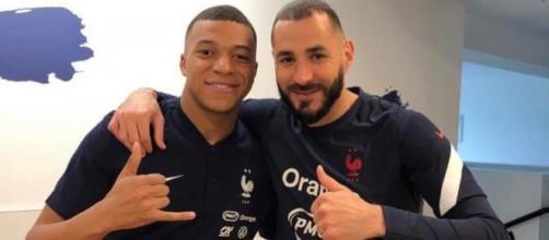 Kylian Mbappé et Karim Benzema. Crédit photo: twitter Karim Benzema