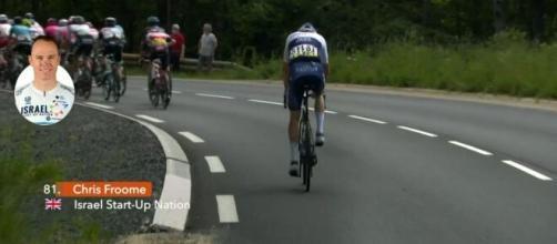 Chris Froome in difficoltà al Giro del Delfinato.
