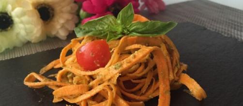 Spaghettini di carote davvero gustosi e semplici da fare.
