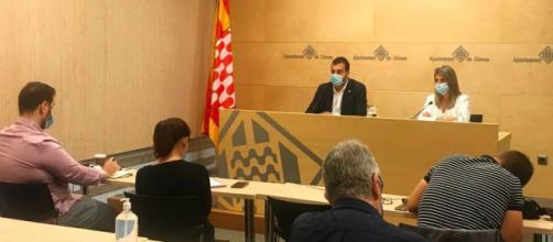 Rueda de prensa en el Ayuntamiento de Girona (Instagram: @girona_cat)