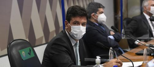 Ex-ministro da Saúde Luiz Henrique Mandetta prestou depoimento na CPI da Covid (Jefferson Rudy/Agência Senado)