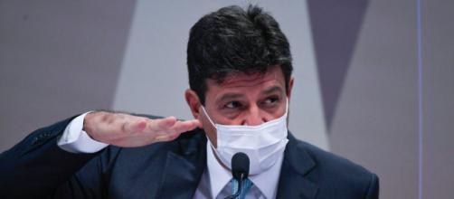 Ex-ministro de Bolsonaro, Luiz Henrique Mandetta, foi a primeira pessoa a ser sabatinada na CPI da Pandemia (Edilson Rodrigues/Agência Senado)
