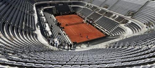 Il Centrale del Foro Italico, 'tempio' del tennis italiano.
